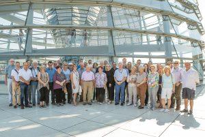 Eine Reisegruppe mit TVBlern in Berlin