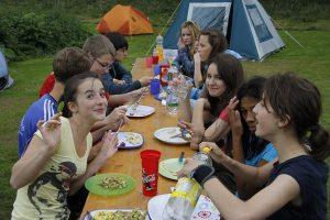 Zeltlager 2012, Auch beim Essen jede Menge Spaß