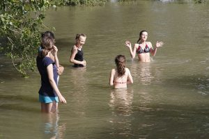 Zeltlager 2012, Schwimmen angesagt