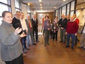 Frau Dr. Schiek erklärte uns die Geschichte des Textilmuseum