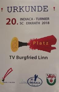 20. Indiakaturnier in Hochdahl, Urkunde