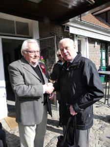 Theo Tilosen gratuliert Franz-Josef Nauen zum 80. Geburtstag