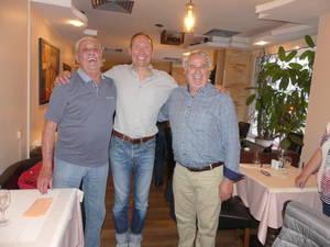 Charly Kemp, Gerald Rütters (Mitte) und Charly Foncken