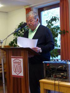 Heinz Pelmter stellt die Zahlen von 2017 auf der JHV 2018 vor