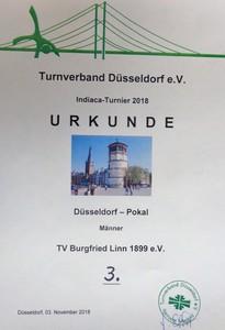 Urkunde Düsseldorf Pokal Männer