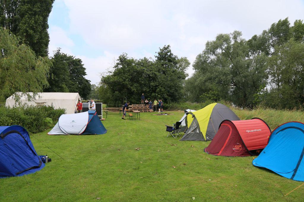Alle Zelte sind aufgebaut